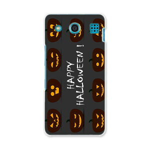 KYV39 miraie f ミライエ フォルテ kyv39 au エーユー スマホ ケース  スマホカバー PC ハードケース  かぼちゃ ハロウィン 黒  013394