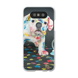 LGV34 isaiBeat イサイ ビート LG Electronics LGエレクトロニクス au エーユーlgv34 スマホ カバー ケース スマホケース スマホカバー PC ハードケース 008304 犬 写真 ペンキ インク カラフル