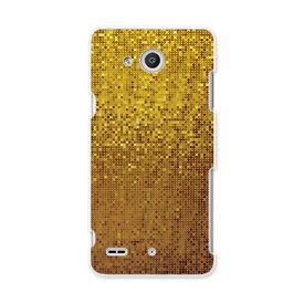 LGV33 Qua phone PX キュア フォン px lgv33 au エーユー スマホ カバー スマホケース スマホカバー PC ハードケース ゴールド ギラギラ クール その他 001939