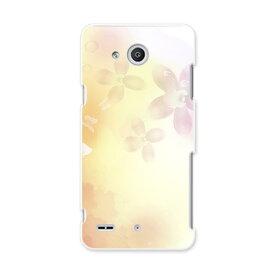 LGV33 Qua phone PX キュア フォン px lgv33 au エーユー スマホ カバー スマホケース スマホカバー PC ハードケース 花 蝶 シンプル クール フラワー 002032