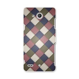 LGV33 Qua phone PX キュア フォン px lgv33 au エーユー スマホ カバー スマホケース スマホカバー PC ハードケース チェック 模様 チェック・ボーダー 006482