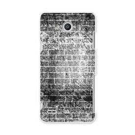 LGV33 Qua phone PX キュア フォン px lgv33 au エーユー スマホ カバー スマホケース スマホカバー PC ハードケース レンガ モノクロ インク ペンキ クール 007683