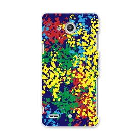 LGV33 Qua phone PX キュア フォン px lgv33 au エーユー スマホ カバー ケース スマホケース スマホカバー PC ハードケース カラフル インク ペンキ ユニーク 008259