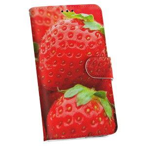 L-01F G2 l01f docomo ドコモ 手帳型 スマホ カバー カバー レザー ケース 手帳タイプ フリップ ダイアリー 二つ折り 革 000149 苺 いちご 赤 果物