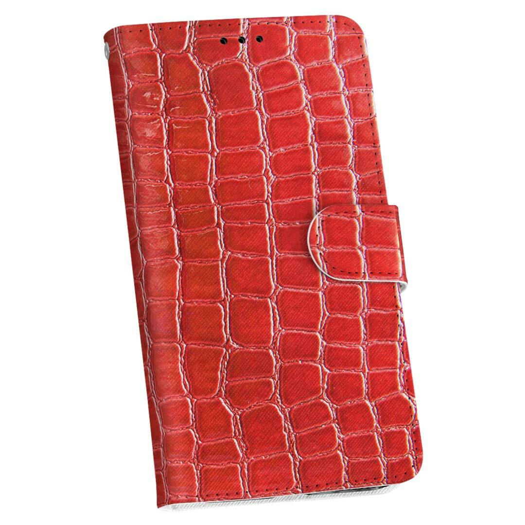 KYV40 rafre au エーユー 手帳型 スマホ カバー 全機種対応 あり カバー レザー ケース 手帳タイプ フリップ ダイアリー 二つ折り 革 ユニーク 赤 蛇柄 クロコダイル 000161