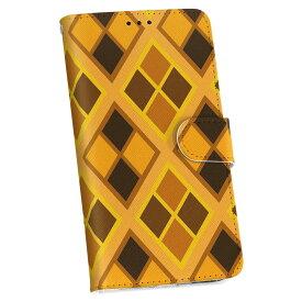 SCL23 GALAXY S5 ギャラクシー au エーユー 手帳型 スマホ カバー カバー レザー ケース 手帳タイプ フリップ ダイアリー 二つ折り 革 000985 ひし形 黄色