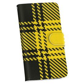 SCL23 GALAXY S5 ギャラクシー au エーユー 手帳型 スマホ カバー カバー レザー ケース 手帳タイプ フリップ ダイアリー 二つ折り 革 003812 チェック 黒 黄色