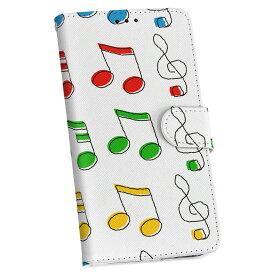 ZenFone Go ZB551KL simfree SIMフリー 手帳型 スマホ カバー レザー ケース 手帳タイプ フリップ ダイアリー 二つ折り 革 ラブリー 音楽 音符 カラフル 004722