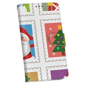 ZenFone Go ZB551KL simfree SIMフリー 手帳型 スマホ カバー レザー ケース 手帳タイプ フリップ ダイアリー 二つ折り 革 その他 クリスマス サンタ トナカイ 005229