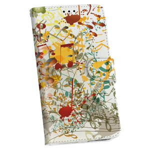 Galaxy A41 SC-41A ギャラクシー sc41a docomo ドコモ 手帳型 スマホ カバー カバー レザー ケース 手帳タイプ フリップ ダイアリー 二つ折り 革 005348 音符 音楽 イラスト