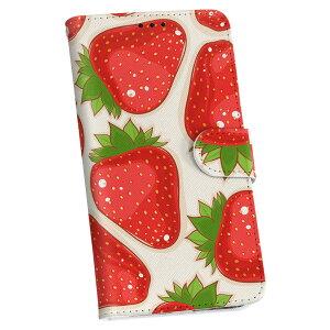 iphone4au iPhone 4/4s アイフォーン au エーユー 手帳型 スマホ カバー カバー レザー ケース 手帳タイプ フリップ ダイアリー 二つ折り 革 006119 イチゴ 苺 イラスト 模様