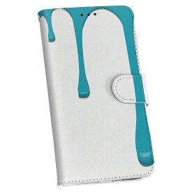 SCV31 GALAXY S6 Edge ギャラクシー エッジ scv31 au エーユー 手帳型 レザー 手帳タイプ フリップ ダイアリー 二つ折り 革 007422 青 ブルー インク ペンキ