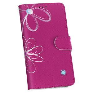 HTL22 HTC J One エイチティーシー au エーユー スマホ カバー 手帳型 カバー レザー ケース 手帳タイプ フリップ ダイアリー 二つ折り 革 花 フラワー ピンク フラワー 007732
