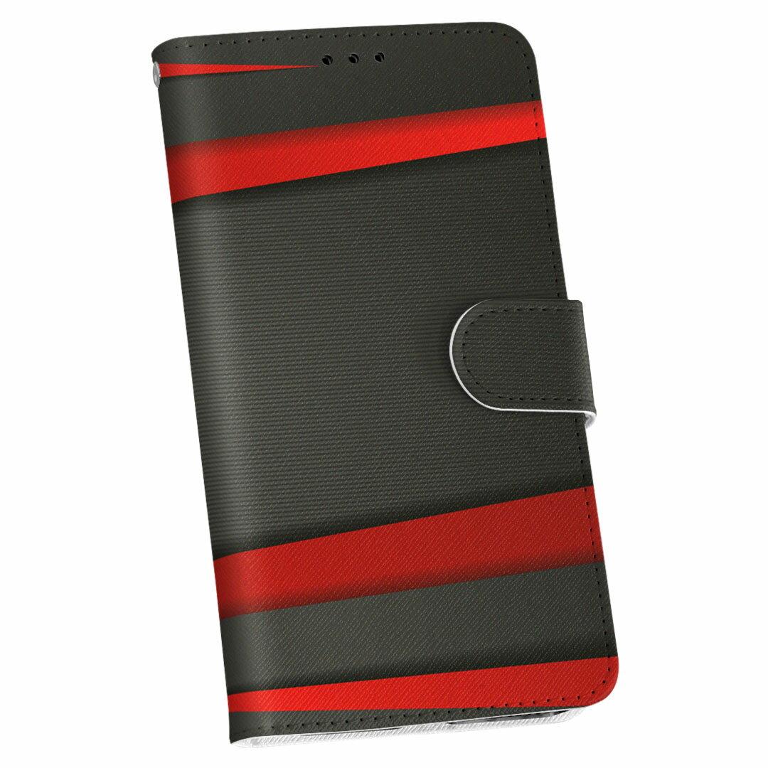 SO-04J Xperia XZ Premium エクスペリア XZ プレミアム so04j docomo ドコモ 手帳型 スマホ カバー レザー ケース 手帳タイプ フリップ ダイアリー 二つ折り 革 クール 赤 レッド 黒 ブラック ライン 008225