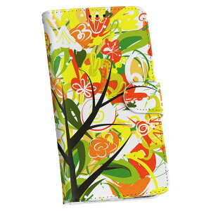 HTV31 HTC J butterfly エイチティーシー htv31 au エーユー 手帳型 スマホ カバー レザー ケース 手帳タイプ フリップ ダイアリー 二つ折り 革 009803 フラワー 花 オレンジ 黄色