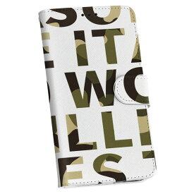 iPod touch 7(2019)/6(2015) アイポッドタッチ 第7世代 第6世代 対応 ケース 手帳型 スマホ カバー カバー レザー ケース 手帳タイプ フリップ ダイアリー 二つ折り 革 011603 迷彩 カモフラ 英語