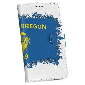 SO-03F Xperia Z2 エクスペリア so03f docomo ドコモ カバー 手帳型 レザー ケース 手帳タイプ フリップ ダイアリー 二つ折り 革 アメリカ オレゴン 州旗 011686