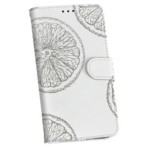 ZenFone Go ZB551KL simfree SIMフリー 手帳型 スマホ カバー レザー ケース 手帳タイプ フリップ ダイアリー 二つ折り 革 レモン 果物 グレー 012533