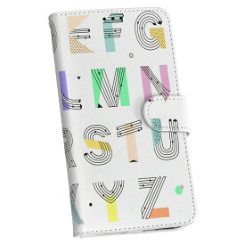 ZenFone Go ZB551KL simfree SIMフリー 手帳型 スマホ カバー レザー ケース 手帳タイプ フリップ ダイアリー 二つ折り 革 012996 アルファベット ポップ 英語