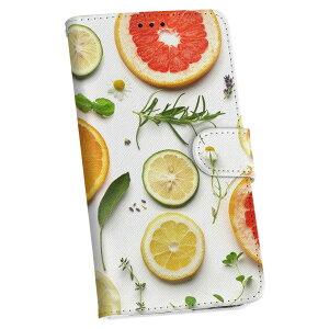 Galaxy A41 SCV48 ギャラクシー scv48 au エーユー 手帳型 スマホ カバー カバー レザー ケース 手帳タイプ フリップ ダイアリー 二つ折り 革 014840 果物 自然 オレンジ