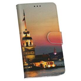 LGV33 Qua phone PX キュア フォン lgv33 au エーユー 手帳型 レザー 手帳タイプ フリップ ダイアリー 二つ折り 革 014908 景色 夜景 建物