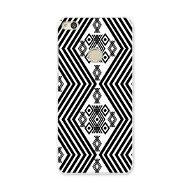 NOVA LITE huawei novalite simfree SIMフリー スマホ カバー ケース スマホケース スマホカバー PC ハードケース 模様 幾何学模様 白黒 012003