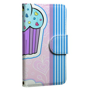 ploom TECH プルームテック 専用 レザーケース 手帳型 タバコ ケース カバー 合皮 ケース カバー 収納 プルームケース デザイン 007843 花 フラワー お菓子 青 ブルー