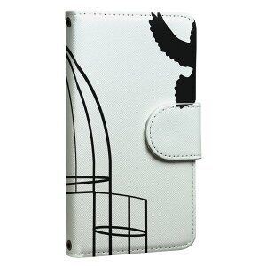 ploom TECH プルームテック 専用 レザーケース 手帳型 タバコ ケース カバー 合皮 ケース カバー 収納 プルームケース デザイン 010046 鳥 シンプル 白 黒