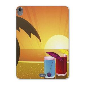 iPad Pro 11inch 第3世代 アイパッドプロ 11インチ タブレットケース タブレットカバー TPU ソフトケース A1980 A2013 A1934 A1979 001415 ジュース 海 ヤシの木