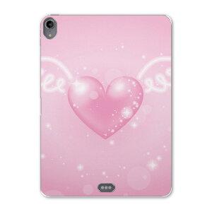 iPad Pro 11inch 第3世代 アイパッドプロ 11インチ タブレットケース タブレットカバー TPU ソフトケース A1980 A2013 A1934 A1979 005260 ハート 羽 ピンク