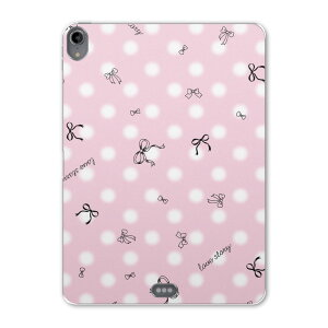 iPad Pro 11inch 第3世代 アイパッドプロ 11インチ タブレットケース タブレットカバー TPU ソフトケース A1980 A2013 A1934 A1979 005806 リボン ピンク 模様