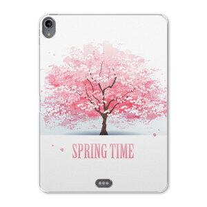 iPad Pro 11inch 第3世代 アイパッドプロ 11インチ タブレットケース タブレットカバー TPU ソフトケース A1980 A2013 A1934 A1979 008120 春 桜 ピンク 植物 イラスト