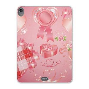 iPad Pro 11inch 第3世代 アイパッドプロ 11インチ タブレットケース タブレットカバー TPU ソフトケース A1980 A2013 A1934 A1979 008299 バレンタイン ピンク リボン ハート