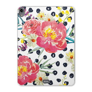iPad Pro 11inch 第3世代 アイパッドプロ 11インチ タブレットケース タブレットカバー TPU ソフトケース A1980 A2013 A1934 A1979 012163 花 ドット ピンク