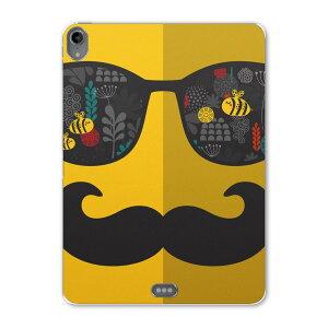 iPad Pro 11inch 第3世代 アイパッドプロ 11インチ タブレットケース タブレットカバー TPU ソフトケース A1980 A2013 A1934 A1979 012748 サングラス ヒゲ 黄色