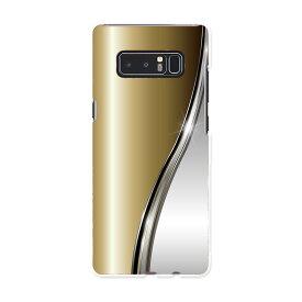 SC-01K Galaxy Note8 ギャラクシー ノートエイト sc01k docomo ドコモ スマホ カバー ケース スマホケース スマホカバー PC ハードケース ゴールド シルバー ラグジュアリー 木目 000557