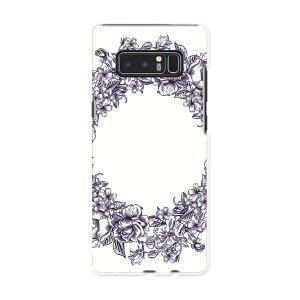 Galaxy Note8 SCV37 au エーユー スマホ カバー スマホケース ハード pc ケース リース アンティーク フラワー 009661