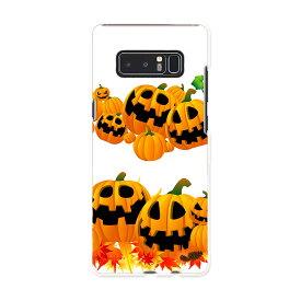 Galaxy Note8 SCV37 au エーユー スマホ カバー スマホケース ハード pc ケース ハロウィン ジャックランタン 紅葉 011698