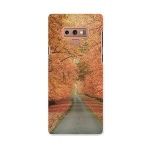 SCV40 Galaxy Note9 ギャラクシー ノートナイン au エーユー scv40 スマホ カバー スマホケース スマホカバー PC ハードケース 005919 写真 秋 並木道