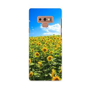 SCV40 Galaxy Note9 ギャラクシー ノートナイン au エーユー scv40 スマホ カバー スマホケース スマホカバー PC ハードケース 007936 写真 花 フラワー 向日葵 ひまわり