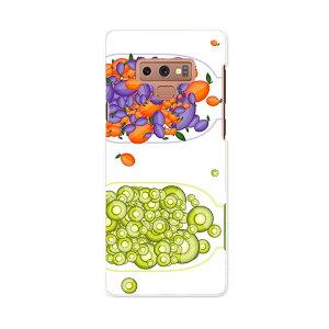 SCV40 Galaxy Note9 ギャラクシー ノートナイン au エーユー scv40 スマホ カバー スマホケース スマホカバー PC ハードケース 009176 カラフル 果物 オレンジ 緑