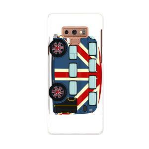 SCV40 Galaxy Note9 ギャラクシー ノートナイン au エーユー scv40 スマホ カバー スマホケース スマホカバー PC ハードケース 010343 乗り物 車 国旗