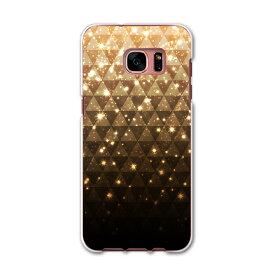 SC-02H Galaxy S7 edge ギャラクシー sc02h docomo ドコモ スマホ カバー ケース スマホケース スマホカバー TPU ソフトケース ゴールド 金 キラキラ ラグジュアリー 005212