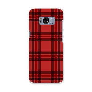 SC-02J Galaxy S8 ギャラクシー エス エイト sc02j docomo ドコモ スマホ カバー ケース スマホケース スマホカバー PC ハードケース 赤 チェック かわいい 012415