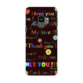 SCV38 Galaxy S9 ギャラクシー エスナイン au エーユー スマホ カバー ケース スマホケース スマホカバー PC ハードケース 000943 花 ハート