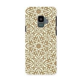 SCV38 Galaxy S9 ギャラクシー エスナイン au エーユー スマホ カバー ケース スマホケース スマホカバー PC ハードケース 004244 模様 エレガント ブラウン