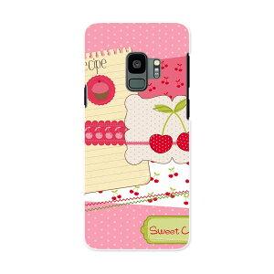 SC-02K Galaxy S9 ギャラクシー エスナイン docomo sc02k ドコモ スマホ カバー ケース スマホケース スマホカバー PC ハードケース 005884 イラスト さくらんぼ ピンク
