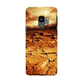 SCV38 Galaxy S9 ギャラクシー エスナイン au エーユー スマホ カバー ケース スマホケース スマホカバー PC ハードケース 007728 写真 茶色 ブラウン 土 空