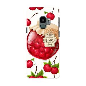 SC-02K Galaxy S9 ギャラクシー エスナイン docomo sc02k ドコモ スマホ カバー ケース スマホケース スマホカバー PC ハードケース 008320 イラスト さくらんぼ チェリー 赤 レッド