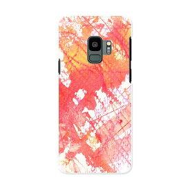 SCV38 Galaxy S9 ギャラクシー エスナイン au エーユー スマホ カバー ケース スマホケース スマホカバー PC ハードケース 008346 インク ペンキ 赤 レッド 水彩